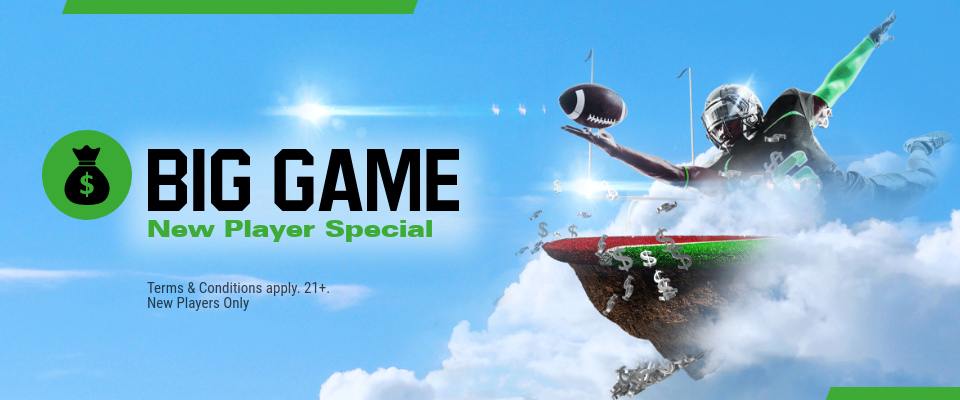New Jersey - Big Game New Player Special